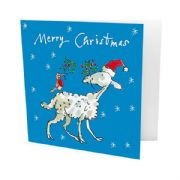 Pack of 10 Quentin Blake Alzheimer's Society Charity Christmas Cards - Robin & Sheep